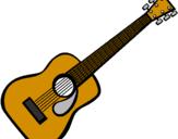 Desenho Guitarra espanhola II pintado por Violão