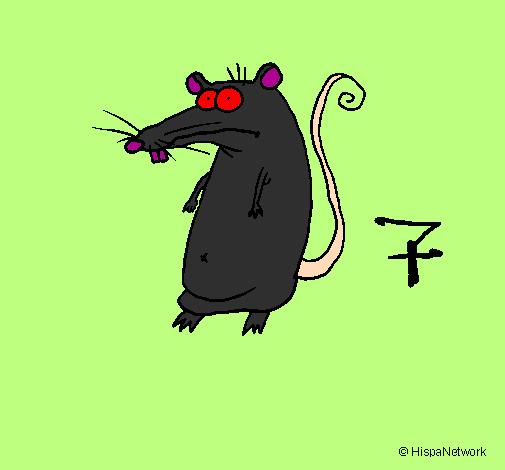 Desenho Rato pintado por amanda tome