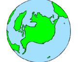 Desenho Planeta terra pintado por Rebeca