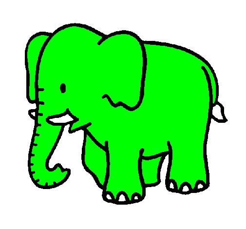 desenho de elefante beb233 pintado e colorido por usu225rio