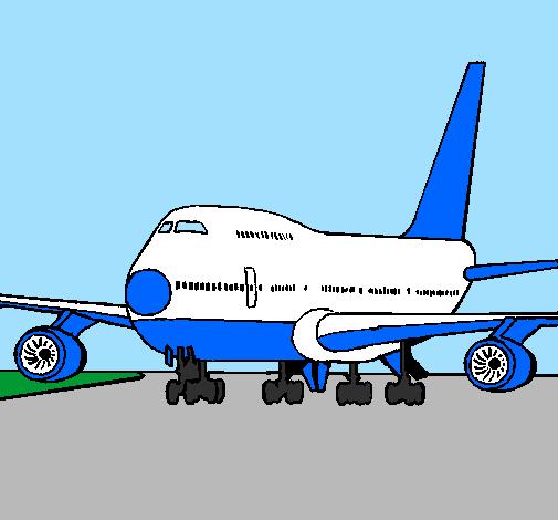 Avião em pista