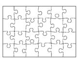Desenho Quebra-cabeça pintado por piu piu