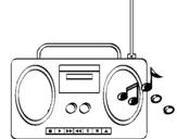 Desenho Radio cassette 2 pintado por marcia