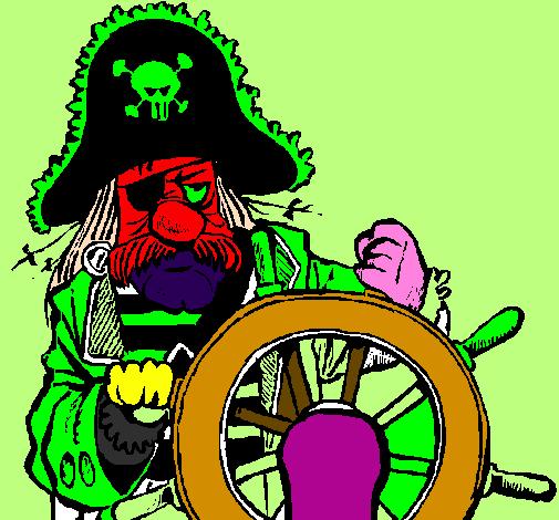 desenho de capitão pirata pintado e colorido por usuário não