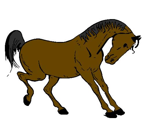 Desenho de cavalo a dan ar pintado e colorido por usu rio for Mulas mecanicas baratas
