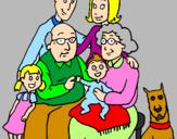 Desenho Família pintado por Lorena