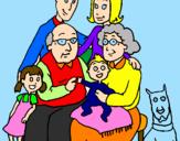 Desenho Família pintado por jujubha