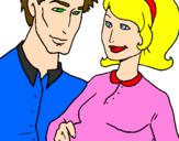 Desenho Pai e mãe pintado por jujubha
