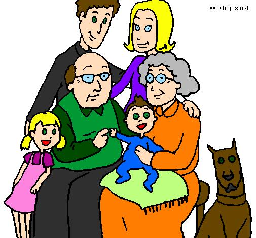 Desenho Família pintado por 12345678910