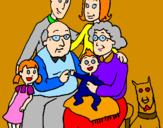 Desenho Família pintado por AGUIAR