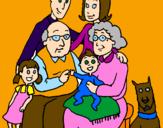 Desenho Família pintado por Laura