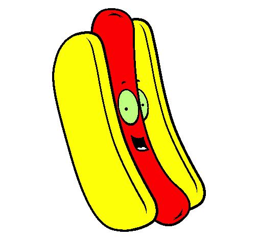 Desenho Cachorro quente pintado por PH LANCHES