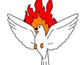 Desenho Pomba Pentecostal pintado por Espirito Santo