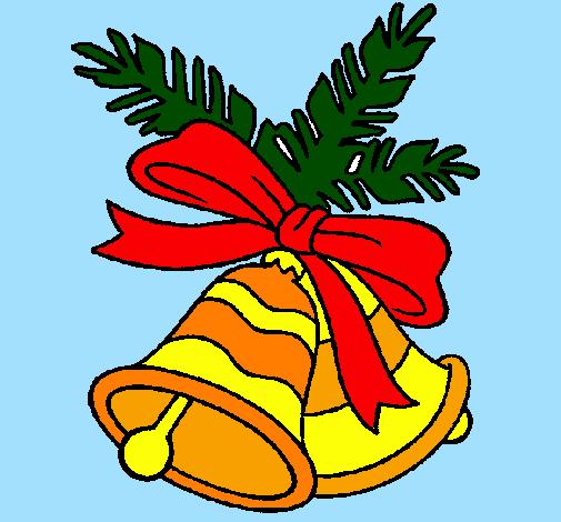 desenho de sinos de natal pintado e colorido por usuário não
