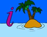 Desenho Ilha pintado por sthefany