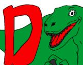 Desenho Dinossauro pintado por bb