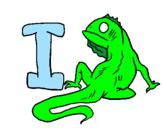 Desenho Iguana pintado por bb