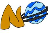 Desenho Neptuno pintado por bb