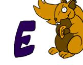 Desenho Esquilo pintado por bb