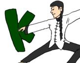 Desenho Kung fu pintado por bb