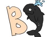 Desenho Baleia pintado por bb