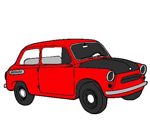 Desenho De Carro Clássico Pintado E Colorido Por Usuário Não