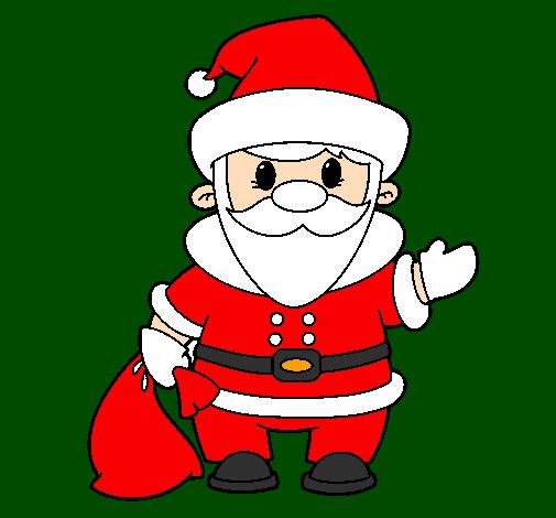 Desenho De Pai Natal 4 Pintado E Colorido Por Usuário Não