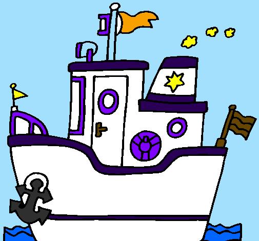 Barco com âncora
