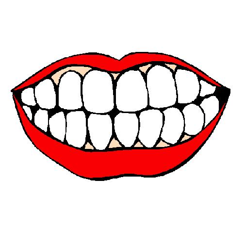 desenho de boca e dentes pintado e colorido por usuário não
