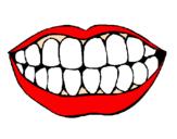 Desenho Boca e dentes pintado por  ben1