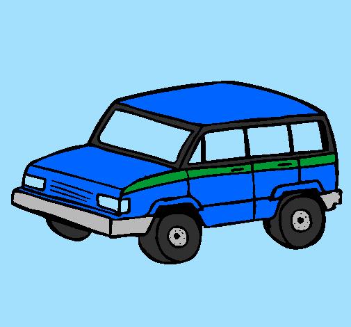 Desenho De Carro 4x4 Pintado E Colorido Por Usuário Não