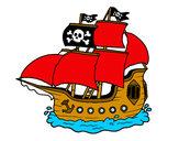 Desenho Barco pirata pintado por MarlonF