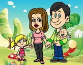 Desenho Família feliz pintado por biazihalok