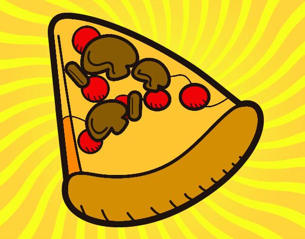 desenho de pizza pintado e colorido por marlonmf o dia 21 de