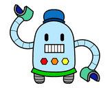Desenho Robô com braços longos pintado por Biel