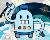 Desenho Robô com braços longos pintado por MarlonMF