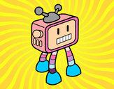 Desenho Robot TV pintado por Lorena
