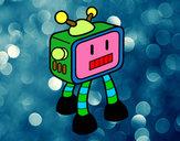 Desenho Robot TV pintado por Matheus-F
