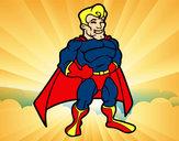 Desenho Super-herói musculoso pintado por picatoste