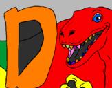 Desenho Dinossauro pintado por bruno
