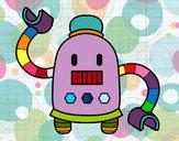 Desenho Robô com braços longos pintado por cintiellen