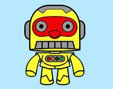 Desenho Robô galáctico pintado por LAGARINHOS