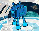 Desenho Robot TV pintado por Thur