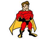 Desenho Super-herói musculoso pintado por Laila