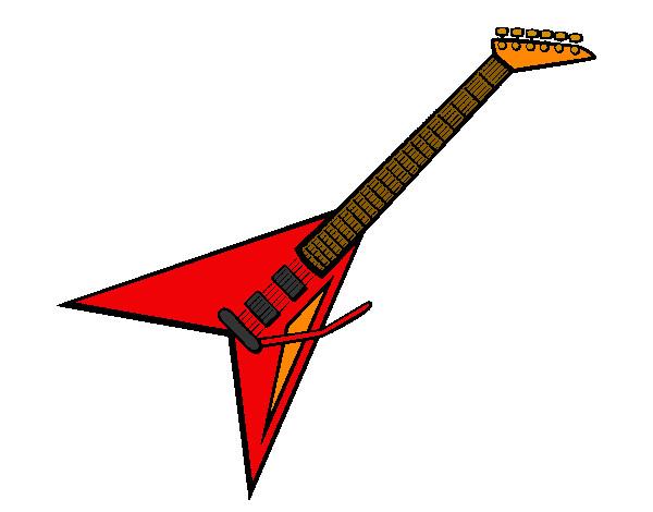 desenho de guitarra pintado e colorido por tonygrosso o dia 04 de