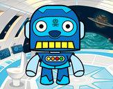 Desenho Robô galáctico pintado por RaioBranco