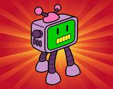 Desenho Robot TV pintado por RaioBranco