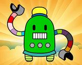 Desenho Robô com braços longos pintado por caiosz