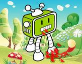 Desenho Robot TV pintado por kaio