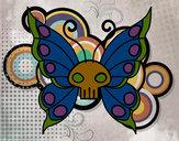 Desenho Borboleta Emo pintado por caiosz